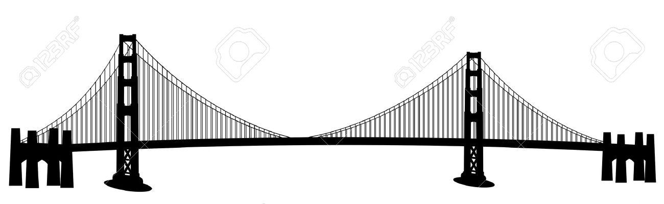 1300x399 Bridge Drawing Clipart