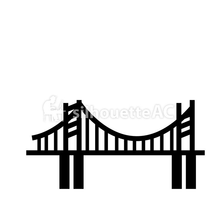 750x750 Free Silhouette Vector Bridge, Town, Icon