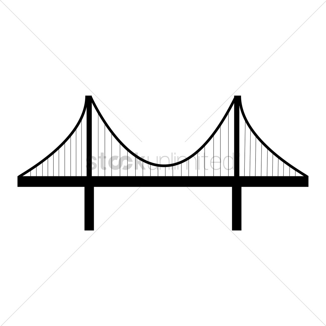 1300x1300 Gate Bridge Silhouette Simple
