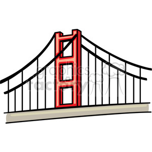 300x300 Royalty Free Golden Gate Bridge 148201 Vector Clip Art Image