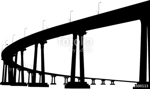500x299 Silhouette Of San Diego Coronado Bridge Stock Image And Royalty