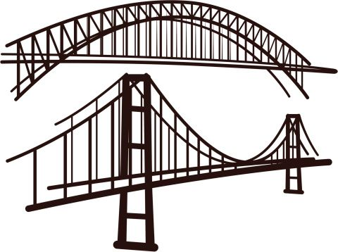 480x358 Bridge Illustrations Amp Vector Images Vector Art And Free Vector