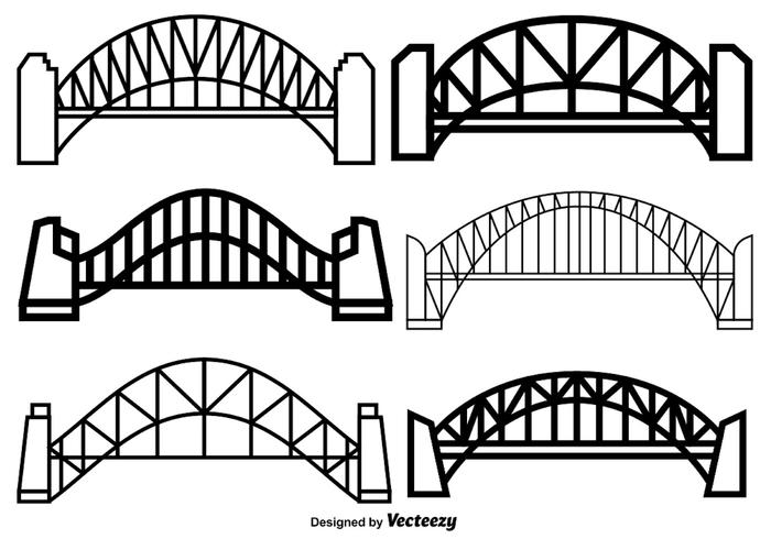 700x490 Vector Set Of Harbour Bridge Icons