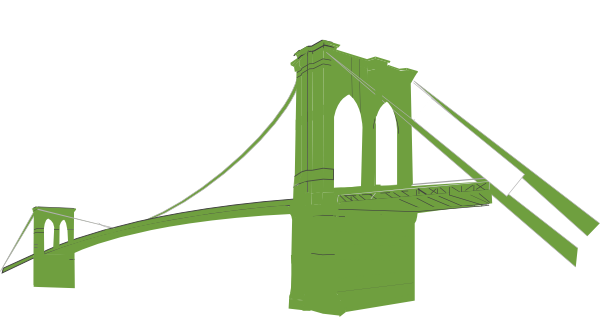 600x317 Brooklyn Bridge Green Clip Art