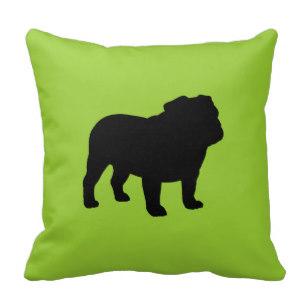 307x307 Custom English Bulldog Throw Cushions Zazzle.co.uk
