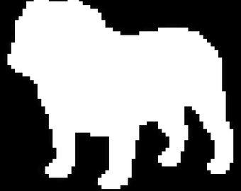 340x270 Silhouette English Bulldog Etsy