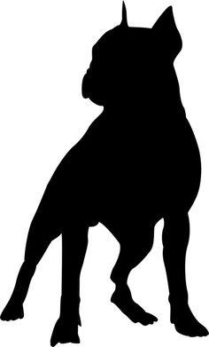 236x391 British Bulldog Silhouette Bulldogs Silhouettes
