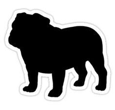 236x226 English Bulldog Silhouette