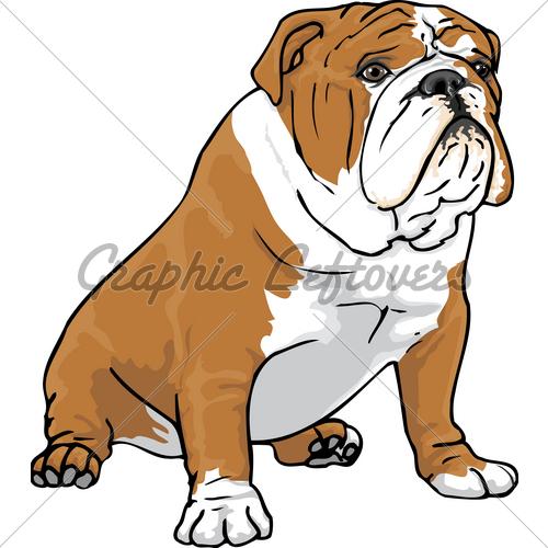 500x500 British Bulldog Clipart
