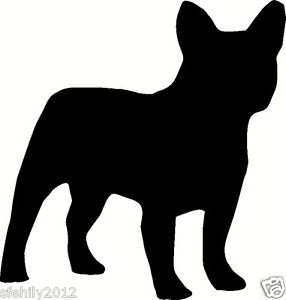 286x300 French Bulldog, Silver Wall Sticker Decal, Silhouette. Great Gift