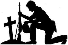 236x155 Silhouette Soldier Soluting Clipart