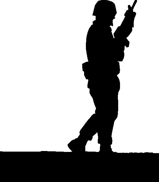 522x599 Sillouette Ww2 Soldier3 Clip Art