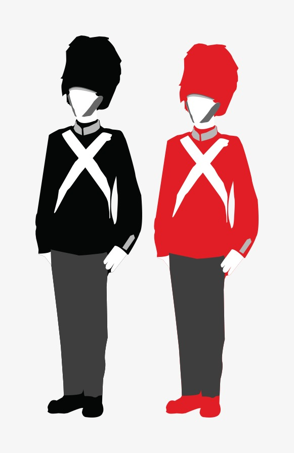 581x894 Vector British Soldiers, Vector, Black White, Cartoon Png