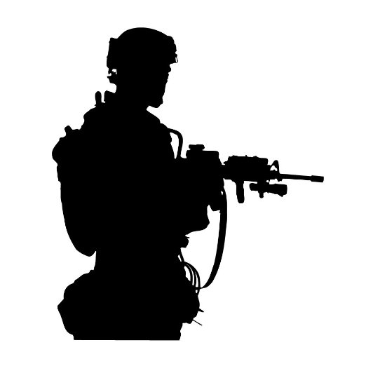 522x522 Buy Silhouette Of An Army Soldier Standing With Gun