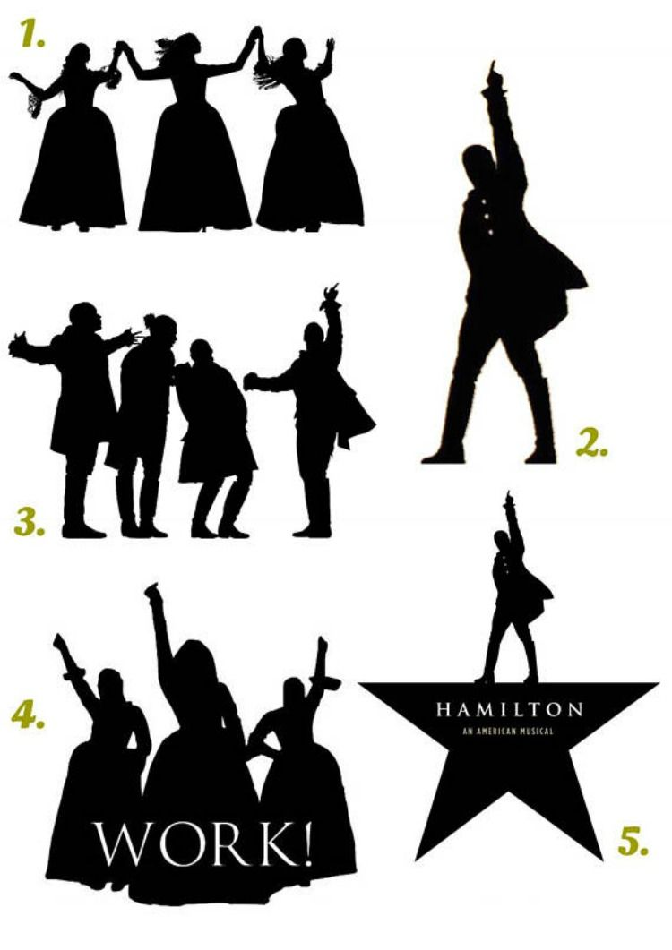 750x1061 Hamilton Silhouette Vinyl Decal. Wall Stickers.