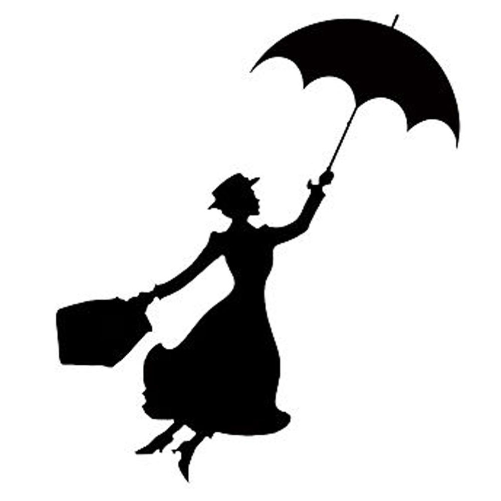 1000x1000 Mary Poppins Sticker Vinyl Decal Car Auto Laptop Window Wall Door
