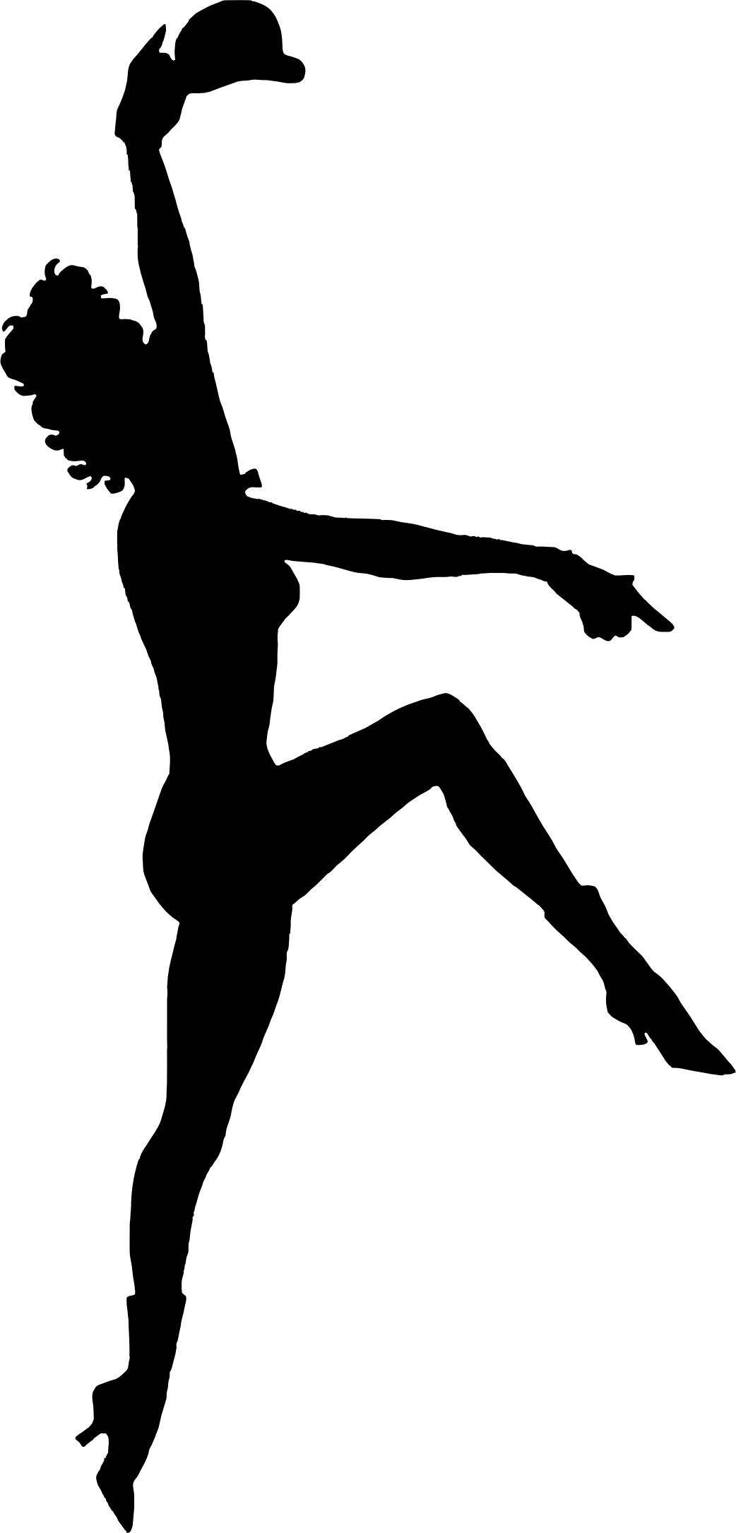 1042x2170 Vintage Broadway Dancer Silhouette Icons Png