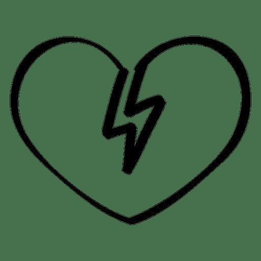 512x512 Broken Heart Doodle
