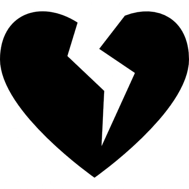 626x626 Broken Heart Silhouette Icons Free Download