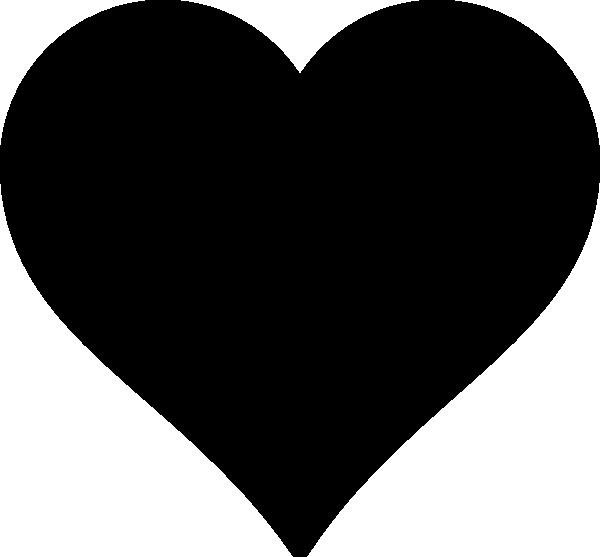 600x557 8 Black Heart Vector Art Images