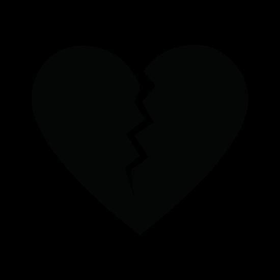 550x550 Broken Cartoon Heart Icon Image