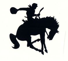236x213 Bucking Bronc Silhouette Silhouettes Silhouettes