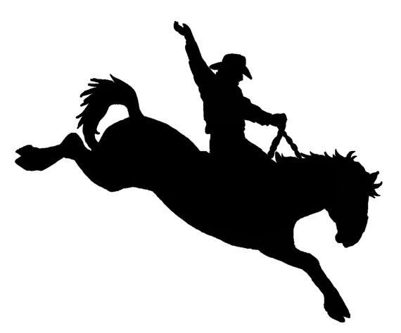 570x474 Cameo Bronc Riding Stencils Pattern Saddles Bronc Clips Art