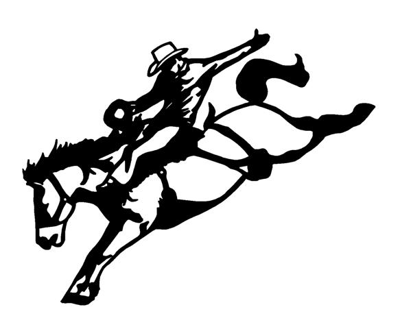 583x480 Saddle Bronc 2 Decal Sticker