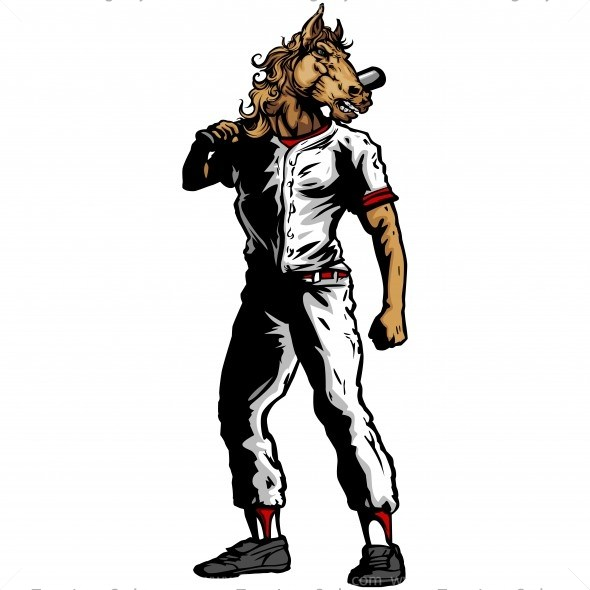 590x590 Bronco Baseball Player Silhouette
