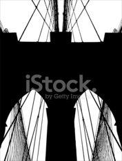 177x234 Brooklyn Bridge Silhouette Vector Stock Photos