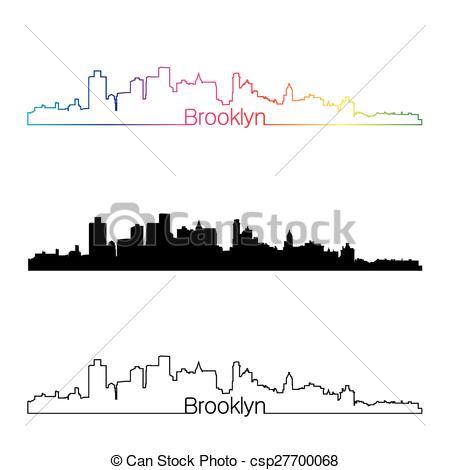 450x470 Brooklyn Skyline Illustrations And Stock Art. 381 Brooklyn Skyline