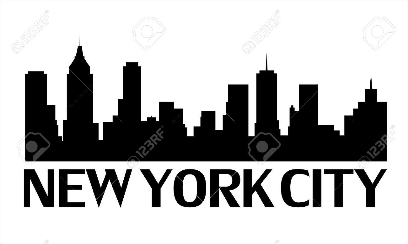1300x779 Clipart Of New York Silhouette Cityscape Brooklyn Bridge Statue