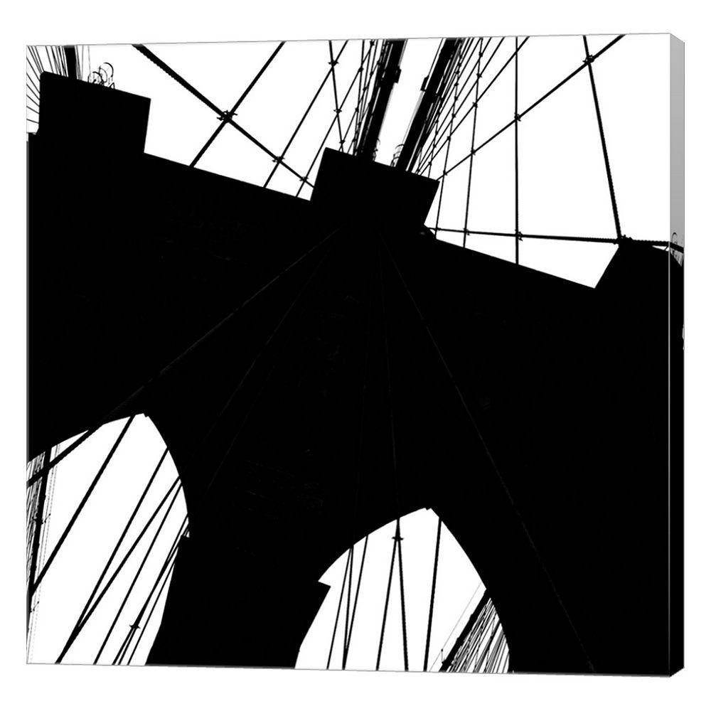 1000x1000 Metaverse Art Brooklyn Bridge Silhouette Canvas Wall Art