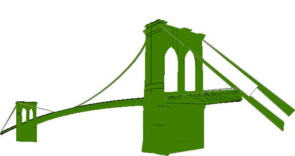600x317 Brooklyn Bridge Green Clip Art