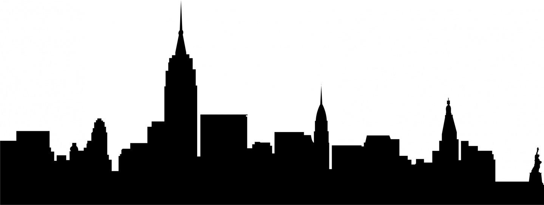 1440x542 Clipart Of New York Silhouette Cityscape Brooklyn Bridge Statue