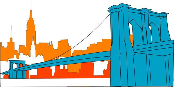 600x301 Bridge Clipart Brooklyn Bridge