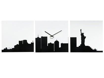 420x315 Karlsson New York 3 Piece Skyline Silhouette Wall Clock Amazon.co