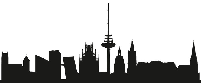 700x291 Skyline (Silhouette) Wall Mural We Live To Change