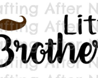 340x270 Brother Sister Svg File, Little Brother Diy Shirt, Little Sister