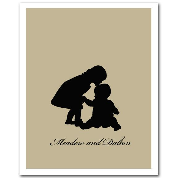 575x575 Silhouette Brother Sister