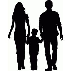 236x236 Silhouetts Of Sister And Little Brother Siblings Clipart Image