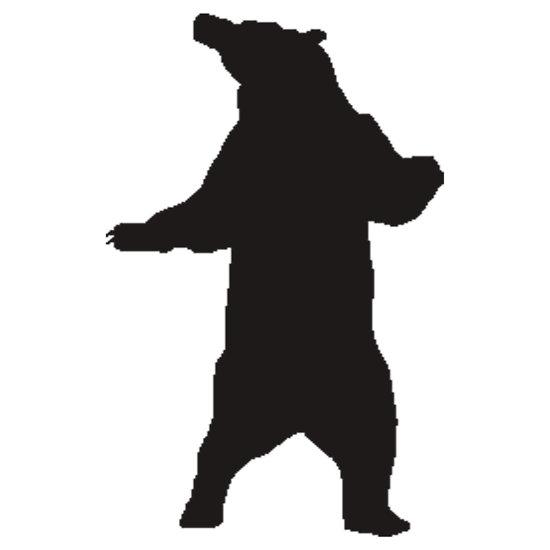 550x550 Brown Bear Clipart Standing Bear