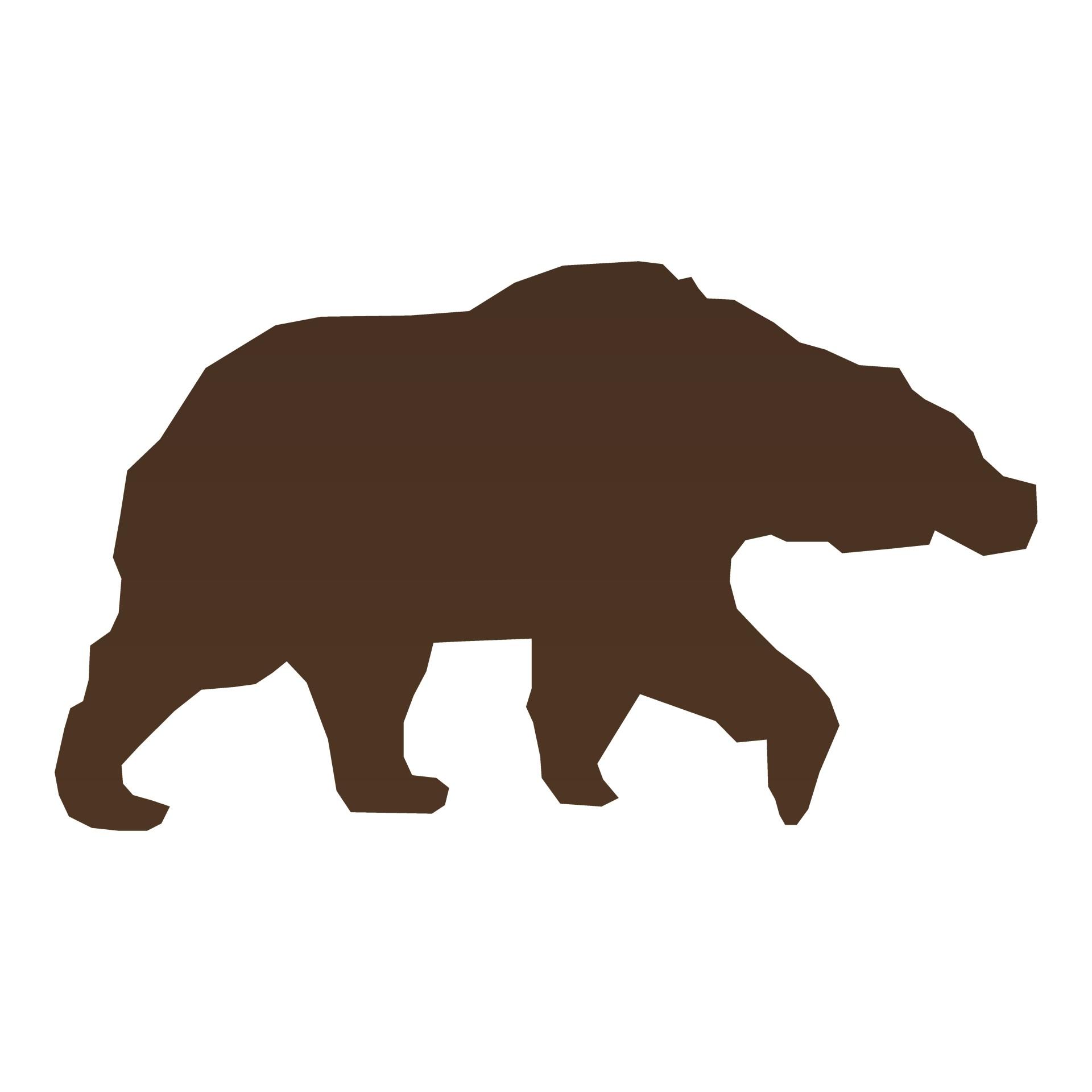 1920x1920 Brown Bear Silhouette Free Stock Photo