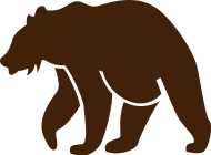 190x140 Brown Bear Silhouette By Toby914 Spreadshirt