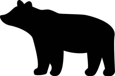 388x256 Bear Cub Silhouette Clipart