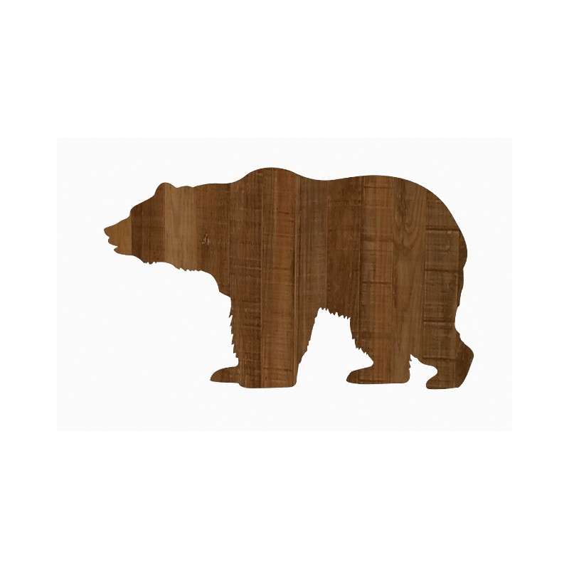 800x800 Silhouette Ours Brun En Bois Grandeur Nature Brown Bear Wooden