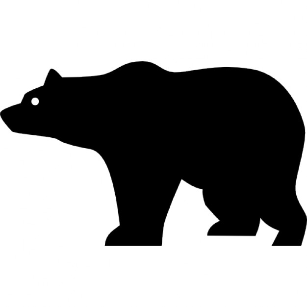 626x626 Bear Side View Silhouette Icons Free Download