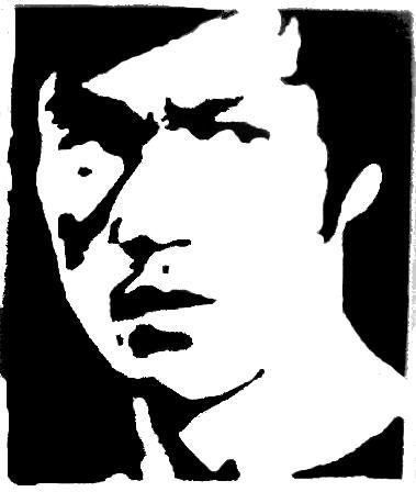 379x448 Bruce Lee Stencil By Reddrmario