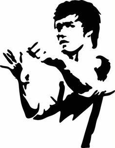 236x302 Bruce Lee Silhouette By Evillion Geek Stuff Bruce