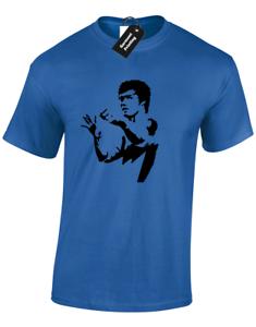 235x300 Bruce Lee Silhouette Mens T Shirt Martial Arts Mma Training Top